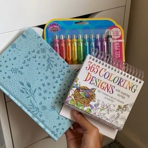 Bundle of Coloring supplies and Travel Pouch!